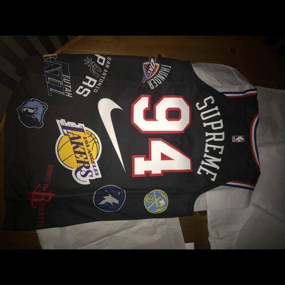 85fbeae8bf9a Supreme  Nike  NBA Jersey